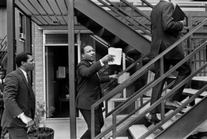 Caldwell, left, with MLK in Memphis, 1968.