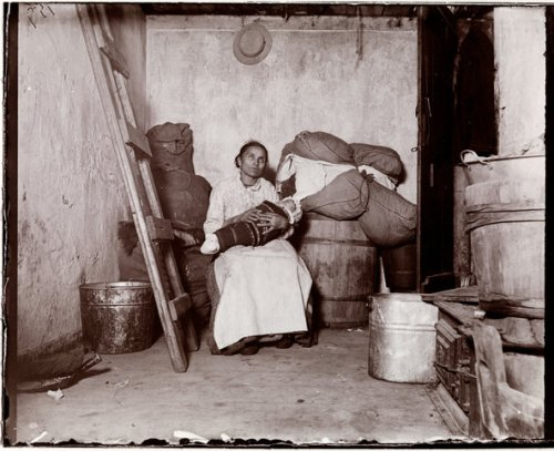 """The Italian Rag-picker,"" by Jacob Riis, from his book, How the Other Half Lives.  Photo from Museum of the City of New York."