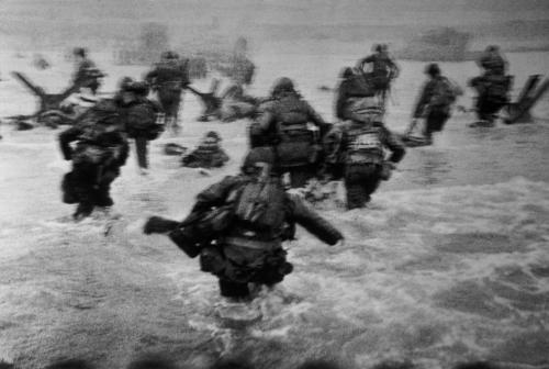 D-Day invasion photo by Robert Capa