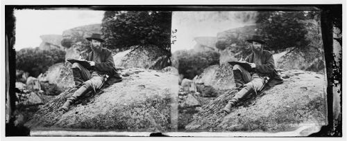 Alfred Waud, at Gettysburg. Library of Congress