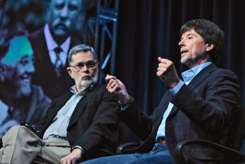Geoffrey C. Ward (left) and Ken Burns PBS photo